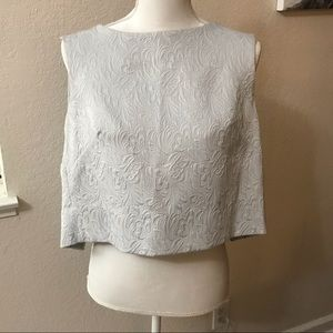 Crop Top with open back light blue
